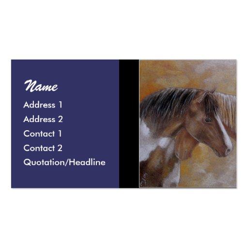 Plantilla de la tarjeta del perfil - caballos tarjetas de negocios
