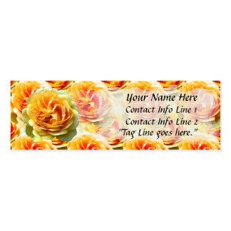 Plantilla de la tarjeta del perfil de la floración tarjetas de visita