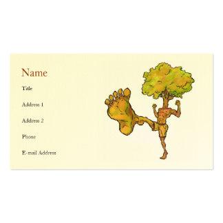 Plantilla de la tarjeta del perfil del árbol de tarjetas de visita