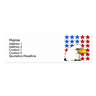 Plantilla de la tarjeta del perfil - estrellas de tarjetas de visita mini