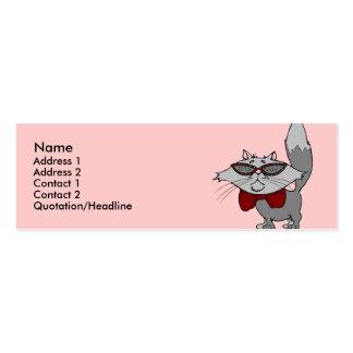 Plantilla de la tarjeta del perfil - gato fresco plantilla de tarjeta personal