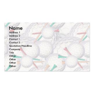Plantilla de la tarjeta del perfil - golf tarjetas de visita