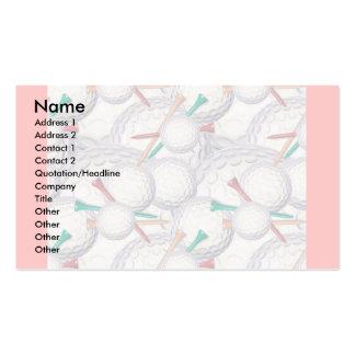 Plantilla de la tarjeta del perfil - golf plantillas de tarjeta de negocio
