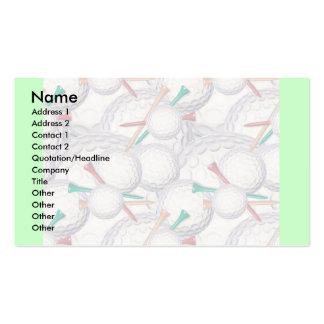 Plantilla de la tarjeta del perfil - golf tarjeta de visita