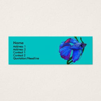 Plantilla de la tarjeta del perfil - pescado de tarjetas de visita mini