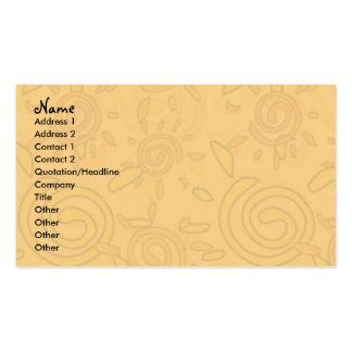 Plantilla de la tarjeta del perfil - soles tarjetas de visita