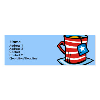 Plantilla de la tarjeta del perfil - taza del voto tarjetas de visita mini