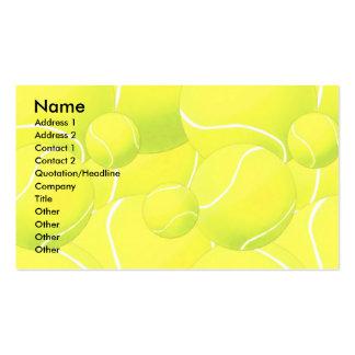 Plantilla de la tarjeta del perfil - tenis tarjetas de visita