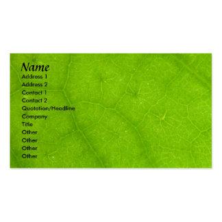 Plantilla de la tarjeta del perfil - textura verde tarjetas de visita