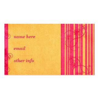 Plantilla de la tarjeta del vintage tarjetas de visita