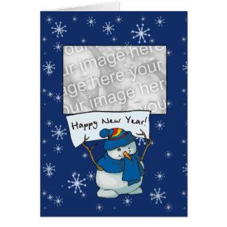 ¡Plantilla de la tarjeta - Feliz Año Nuevo!