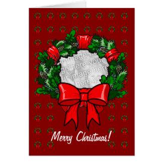 Plantilla de la tarjeta - guirnalda del navidad