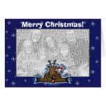 Plantilla de la tarjeta - reno del navidad