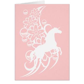 Plantilla de la tarjeta - unicornio