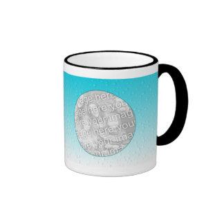 Plantilla de la taza de la foto - gotitas de agua
