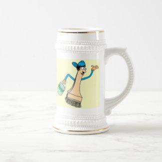 Plantilla de la taza de Stein del pintor