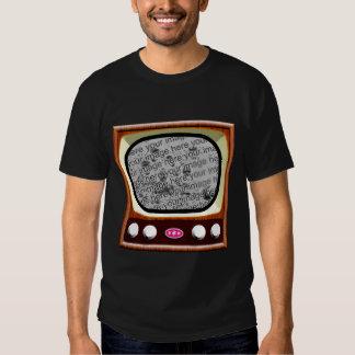 plantilla de la televisión 50s - negro poleras