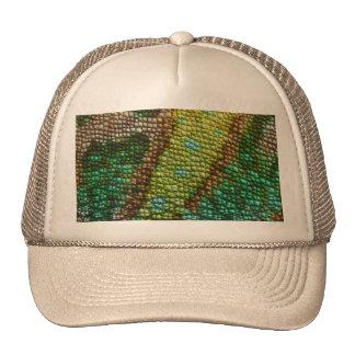 Plantilla de la textura de la piel del camaleón gorras de camionero