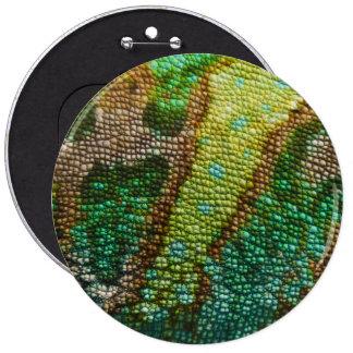 Plantilla de la textura de la piel del camaleón pin redondo de 6 pulgadas