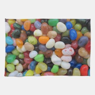 Plantilla de la textura del caramelo del verde toalla de cocina