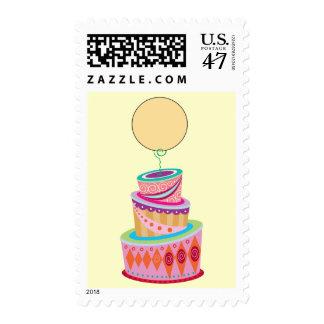 Plantilla de la torta de la fantasía sellos postales