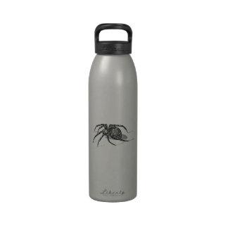 Plantilla de las arañas del ejemplo de la araña de botella de beber