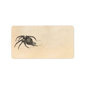 Plantilla de las arañas del ejemplo de la araña de etiqueta de dirección