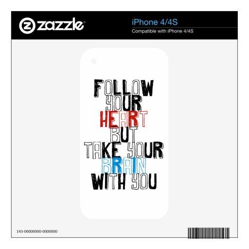 Plantilla de las citas skins para eliPhone 4