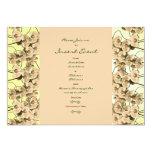 Plantilla de las invitaciones - orquídeas invitación 12,7 x 17,8 cm
