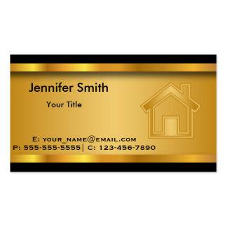 Plantilla de las propiedades inmobiliarias tarjetas de visita