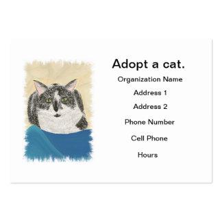 Plantilla de las tarjetas de visita de la adopción