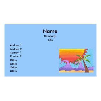 Plantilla de las tarjetas de visita de la playa de
