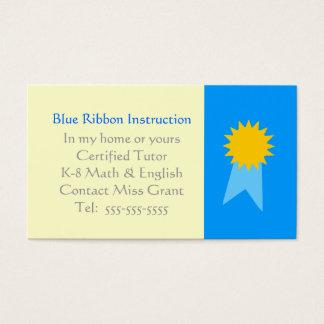 Plantilla de las tarjetas de visita del profesor