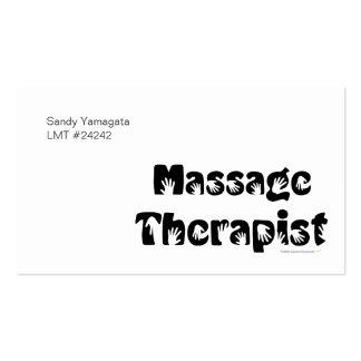 Plantilla de las tarjetas de visita del terapeuta
