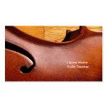 Plantilla de las tarjetas de visita del violín del