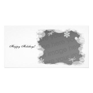 Plantilla de las vacaciones de invierno tarjetas personales