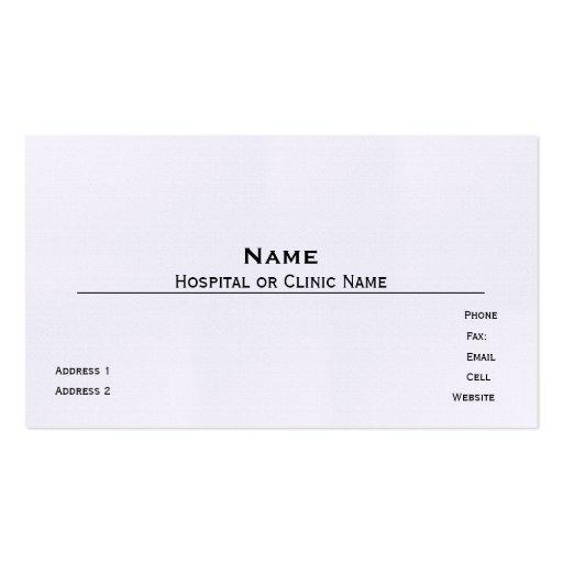 Plantilla de lino de la tarjeta de visita