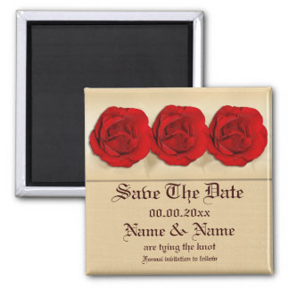 Plantilla de los imanes - rosas rojos adaptables imanes para frigoríficos