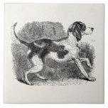 Plantilla de los perros de perros de los 1800s del teja cerámica