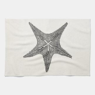 Plantilla de los pescados de la estrella de la toallas de cocina