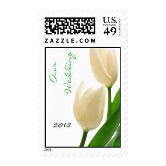Plantilla de los sellos del boda del tulipán