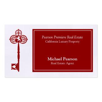 Plantilla de lujo de la tarjeta de visita del agen