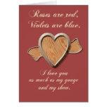 Plantilla de madera de la tarjeta del corazón del