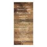 Plantilla de madera del programa del boda del folleto publicitario 10 x 22,8 cm