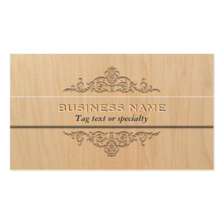 Plantilla de madera ligera elegante de la tarjeta  tarjeta de negocio