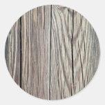 Plantilla de madera resistida del fondo del grano pegatinas redondas