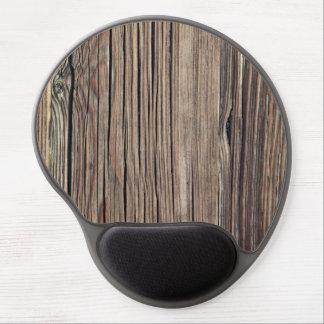 Plantilla de madera resistida del fondo del tablón alfombrillas de raton con gel
