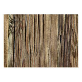 Plantilla de madera resistida del fondo del tablón tarjetas de visita grandes
