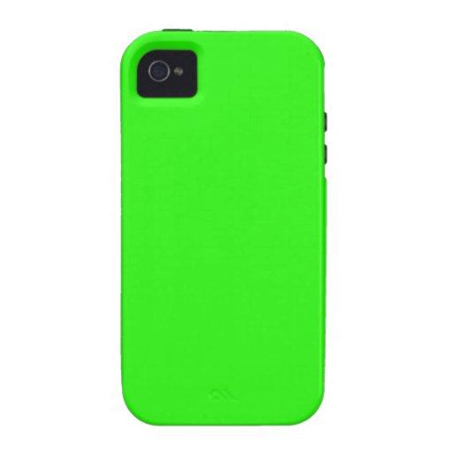 Plantilla de neón brillante del espacio en blanco  Case-Mate iPhone 4 carcasa