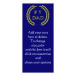 Plantilla de oro de la señal del papá del número 1 tarjetas publicitarias a todo color